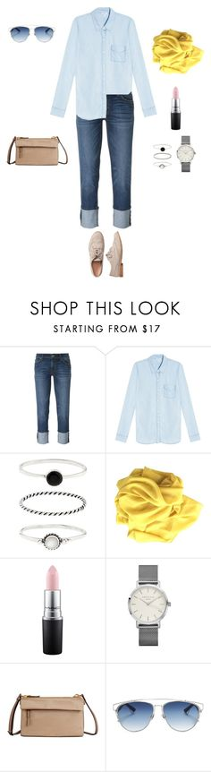 """""""jeans casual look2"""" by yuri-writer on Polyvore featuring Hudson, Splendid, Accessorize, MAC Cosmetics, Tumi, Christian Dior and Gap"""