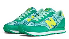 New Balance Camo 501, Mint with Teal & Yellow