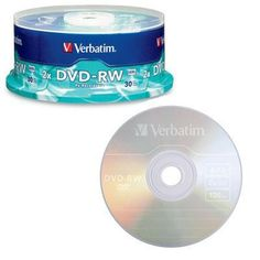 Verbatim Americas Llc 30pk Dvd-rw 4.7gb 4x Branded Surface