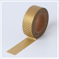 Japanese Washi Tape : GOLD Diagonal Stripes