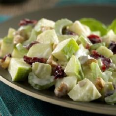 easy, salad, side, fruit, apples, healthy, low calories, low fat, low carbohydrates, low sodium, heart-healthy, WW, Plus, SmartPoints, waldorf salad, recipe
