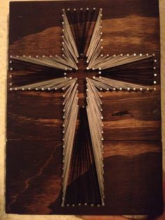 cross string art with bible verse my creations pinterest. Black Bedroom Furniture Sets. Home Design Ideas