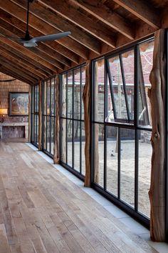 Window Walls (Fixed, Arched, and Casement Windows) - Rehme Steel Windows & Doors Metal Windows, Casement Windows, Windows And Doors, Wall Of Windows, Glass Garage Door, Garage Door Windows, Modern Hallway, Modern Staircase, Modern Barn