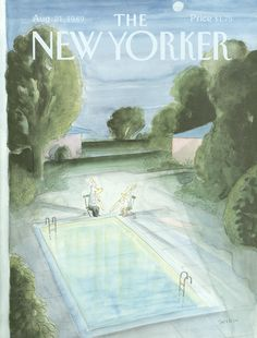 """The New Yorker - Monday, August 21, 1989 - Issue # 3366 - Vol. 65 - N° 27 - Cover by : """"Sempé"""" - Jean-Jacques Sempé"""