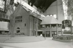 Phillip H. Carter renovation and addition for Wychwood Branch, Toronto Public Library, architectural model circa 1977 Carnegie Library, Library Boards, Libraries, Toronto, Public, History, Architecture, Building, Model
