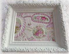 $150  New pink china mosaic tray