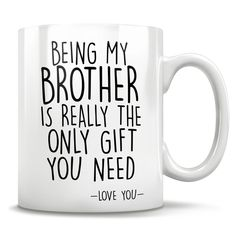 Big brother gifts big brother mug worlds best brother mug birthday gift idea gift from little brother or sister christmas gift idea Big Brother Gifts, Christmas Gifts For Brother, Gifts For Fiance, Dad Gifts, Couple Gifts, Need Love, Love You, Grandfather Gifts, Godmother Gifts