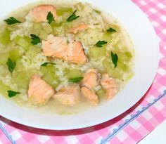 #reteta #supa cu peste si dovlecei Soup Recipes, Potato Salad, Curry, Potatoes, Ethnic Recipes, Curries, Potato