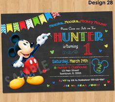 Mickey Mouse Birthday Invitation Mickey by KidsPartyPrintables