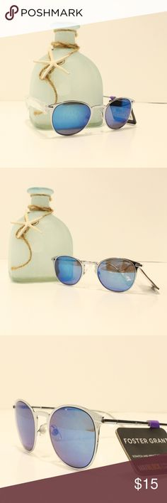 21e4e1eff Foster Grant Sunglasses Silver Metal Blue Mirror Model Number: 10232763.MCV  Lens Color: