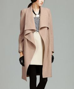 Look what I found on #zulily! Khaki Wool-Blend Trench Coat #zulilyfinds