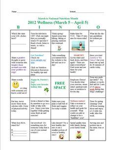 Medical Bingo Cards   Bingo Card March 5 - April 5, 2012
