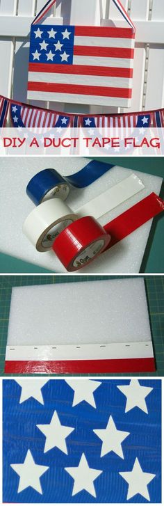 Duck Tape Flag ::::: Top 10 Best Crafts for Kids