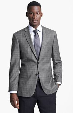 John Varvatos Star USA 'Townshend' Trim Fit Plaid Sportcoat available at #Nordstrom