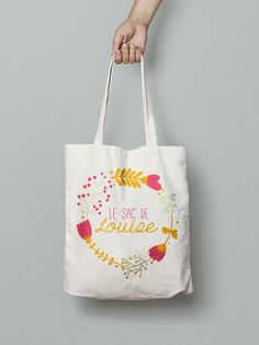 Tote bag custom - Vintage flowers The tote bag is fully customizable (colors, text and graphic elements can be changed). Sacs Tote Bags, Wine Tote Bag, Canvas Tote Bags, Reusable Tote Bags, Sac Tods, Tods Bag, Custom Tote Bags, Personalized Tote Bags, Bag Quotes