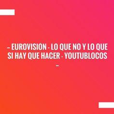 Wave hello to this awesome post! 👋 EUROVISIÓN - LO QUE NO Y LO QUE SI HAY QUE HACER - YOUTUBLOCOS http://caoschanytl.blogspot.com/2017/05/eurovision-lo-que-no-y-lo-que-si-hay.html?utm_campaign=crowdfire&utm_content=crowdfire&utm_medium=social&utm_source=pinterest