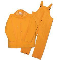 Boss Rainwear 3PR0300Y4 Fluorescent Lined Rainsuit 3 Piece