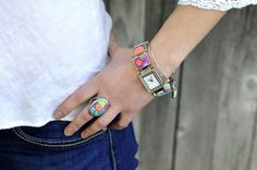 Check out this ALL New Fresco Square Watch and many other new colors by JILZARAH!     http://jilzarah.com/shop/collections/fresco/square-watch/