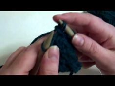 Knitting Tutorial - Continental Style Knitting - Herringbone Stitch