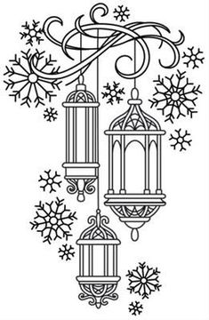 Lanterns in the Snow_image