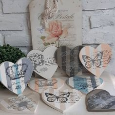Boho Inspiration, Origami, Decorative Plates, Mixed Media, Hearts, Scrapbook, Simple, How To Make, Design