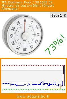 TFA Dostmann Puck / 38.1028.02 Minuteur de cuisson Blanc (Import Allemagne) (Cuisine). Réduction de 73%! Prix actuel 12,91 €, l'ancien prix était de 48,40 €. http://www.adquisitio.fr/tfa/dostmann-puck-38102802