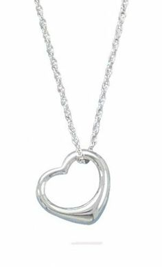 "Chain Necklace With ""Floating Heart"" Pendant"