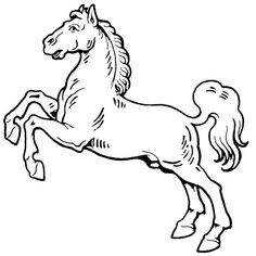 Camping Coloring Pages, Farm Animal Coloring Pages, Disney Coloring Pages, Horse Silhouette, Silhouette Clip Art, Bronco Horse, Horse Clip Art, Horse Template, Horse Clipping