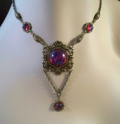 Sinead Ornate Mexican Fire Opal Victorian by simplywillow on Etsy, $44.00 #choker #necklace