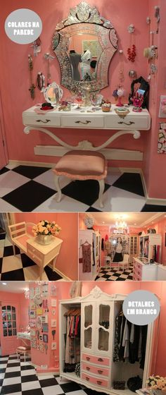 My dream room, seriously. Vanity Room, Vanity Area, Glam Room, Girls Bedroom, Bedrooms, Trendy Bedroom, Bedroom Ideas, Makeup Rooms, Beauty Room