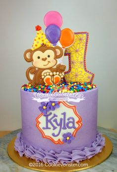 Cookievonster - Little monkey cake for Kyla :)
