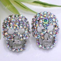 skull rhinestone earrings | Home > Fashion Jewelry > Earrings > Rhinestone Earrings