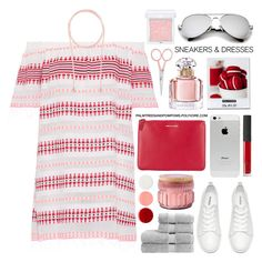 """Sporty Chic: Sneakers and Dresses"" by palmtreesandpompoms ❤ liked on Polyvore featuring Lemlem, Witchery, Comme des Garçons, Christy, Vineyard Hill Naturals, Eve Snow, Guerlain, NARS Cosmetics, Anastasia Beverly Hills and RMK"