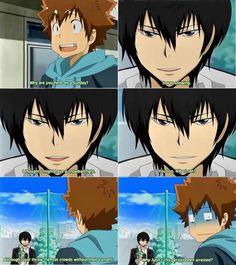 Katekyo Hitman Reborn Hibari Kyoya and Tsuna Sawada snowball fights XD