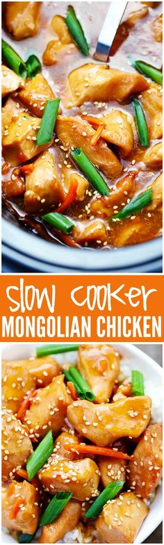 This Slow Cooker Mongolian Chicken is OUT OF THIS WORLD and a million times better than takeout! http://therecipecritic.com