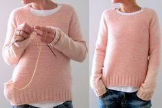 rozovyiy pulover1   Домоседка