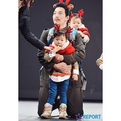 Daehan, Minguk, Manse visits appa in the stage play 'I Am You' | 3doong2 Instagram Update