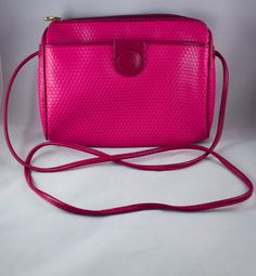 *SOLD* Vintage Liz Claiborne Hot Pink Cross Body Bag by JenuineCollection on Etsy