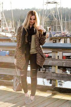 Oversized Leopard Print Sweater