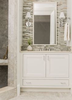 Bathroom Backsplash. Bathroom Backsplash Ideas. #Bathroom #Backsplash #BathroomBacksplash Anita Clark Design.