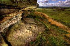 neolithic petroglyph, northumberland, england