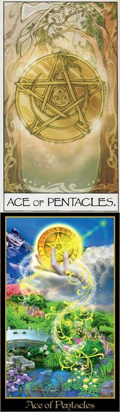 Ace of Pentacles: new opportunity for material gain and lost opportunity (reverse). Mage Awakening Tarot deck and Illuminati Tarot deck: tarotcards and book sets, free tarot card reading lotus and tarotzombie. The best tarot bag tutorial and tarot meanings cards. #empress #halloweenmakeup #witchy #iosgame
