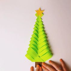 DIY Paper Christmas tree- DIY sapin de Noël en Papier DIY to make a paper Christmas tree. To do with children. Diy to make a paper Christmas tree. To do with children. Diy Paper Christmas Tree, Paper Christmas Decorations, How To Make Christmas Tree, Christmas Crafts For Kids, Xmas Crafts, Christmas Art, Christmas Parties, Paper Crafts Origami, Paper Crafting