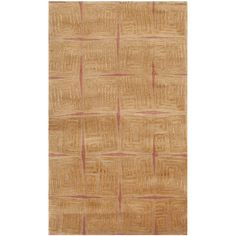 Safavieh Hand-knotted Tibetan Contemporary Abstract Gold/ Rust Wool/ Rug