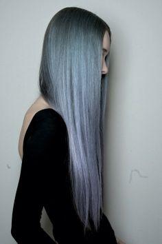 Silver Hair. Long Hair. Grunge Love.