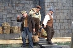 Il Tabarro. Talpa (Luigi Roni), Luigi (Francesco Anile) and Tinca (Mario Bolognesi)