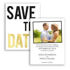 Let your love shine! This photo save the date card features gold foil accents on the front, with your wedding day details & photo on the back. #SaveTheDate #Typography #DavidsBridal http://www.invitationsbydavidsbridal.com/Wedding-Invitations/Save-the-Dates/2947-DBP35095SD-Forever-in-Love-Foil--Save-the-Date.pro?&sSource=Pinterest&kw=SaveTheDate_DBP35095SD