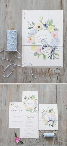 Soft color floral is perfect for spring wedding!