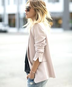 soft dusky pink jacket
