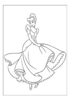 Cinderella Color Page